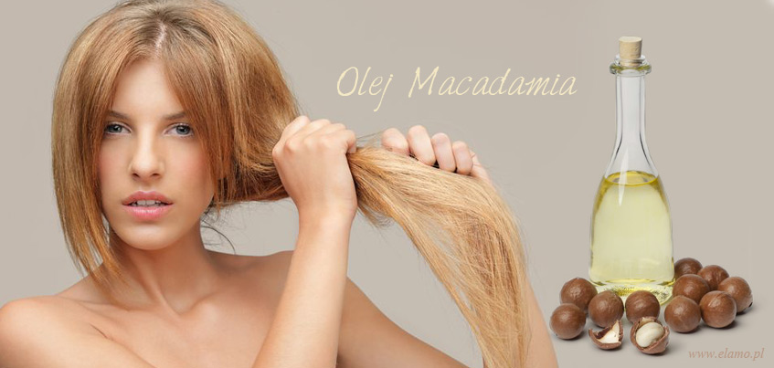 olej z orzechów makadamia na suche z rozdwojonymi końcówkami włosy. Kobieta z wysuszonymi włosami.