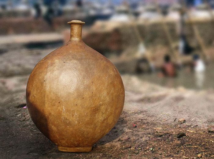pojemnik skórzany kuppis ze skóry wielbłądziej