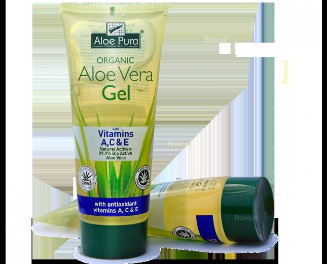 żel aloesowy z witaminami A,C,E 99.9% Aloe Vera Organic OPTIMA 200ml