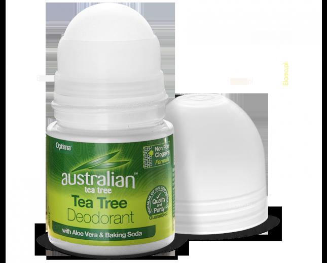 dezodorant w kulce roll-on z olejkiem z Drzewa Tea Tree i Aloesem