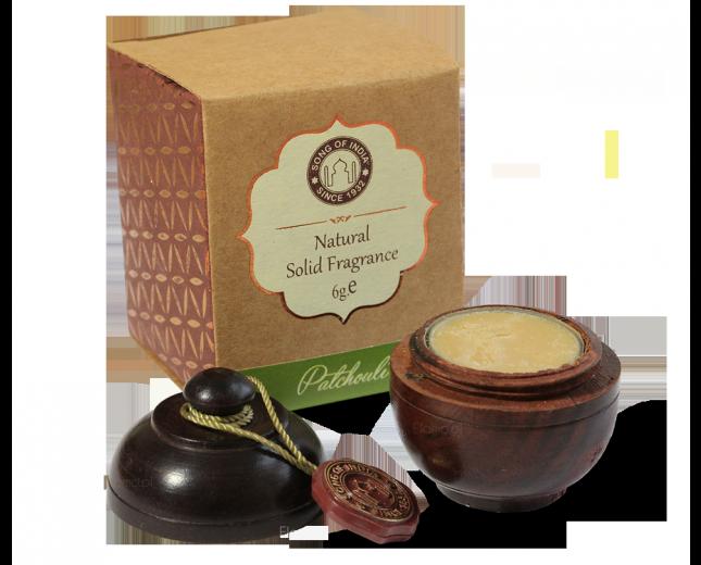 Perfumy PACZULA (Patchouli) w szkatułce z drzewa różanego
