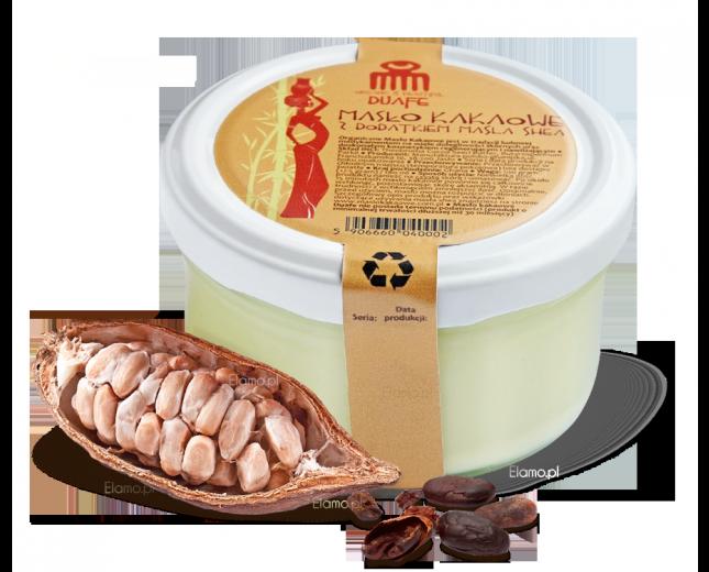organiczne masło kakaowe z dodatkiem masła shea z Ghany DUAFE