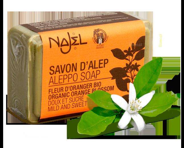 Mydło z Aleppo z wodą z Kwiatów Pomarańczy 100g Najel