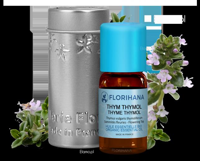 Olejek Tymiankowy z kwiatostanów Thymus vulgaris Florigana