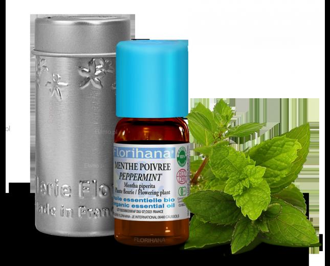 eteryczny olejek z mięty pieprzowej peppermint z gałązką Mentha Piperita Florihana