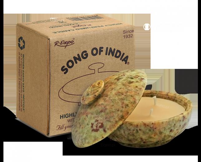 Świeca zapachowa NEROLI w kamieniu - Song of India