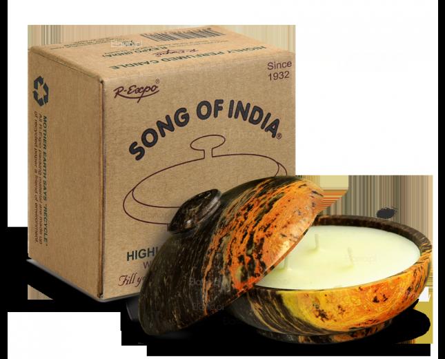 Świeca zapachowa ROSE FLOWER w kamieniu - Song of India