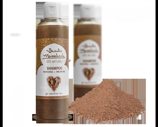 szampon z glinką rhassoul i olejem arganowym