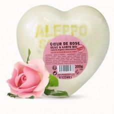 Mydło Różane Serduszko Aleppo Oliwka & Organiczne Masło Shea 200g