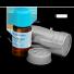 olejek geraniowy w buteleczce i opakowaniu metalowym chroniacym od światła