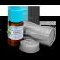 Organiczny olejek majeranek w butelce i metalowym opalkowaniu ochronnym